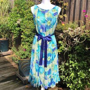 Adrianna Papell Floral Sleeveless Dress Sz 6  D136